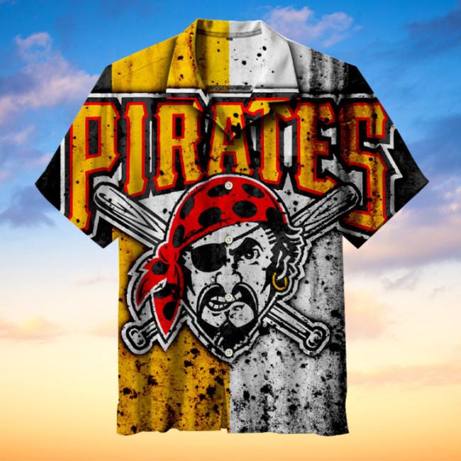 Pittsburgh Pirates Hawaiian Short Sleeve Shirt