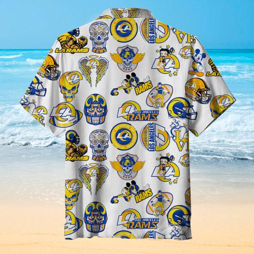 Love My Los Angeles Rams Print Unisex Hawaiian Shirt