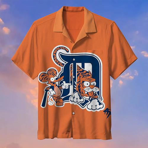Detroit Tigers MLB Baseball Tiger Print Unisex Hawaiian Shirt
