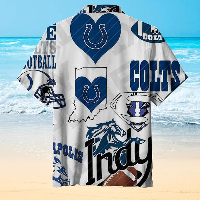Indianapolis Colts Print Hawaiian Shirt