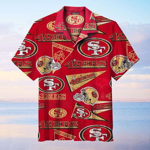 The San Francisco 49ers Unisex Hawaiian Short Sleeve Shirt