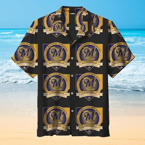 Milwaukee Brewers Hawaiian Short Sleeve Shirt