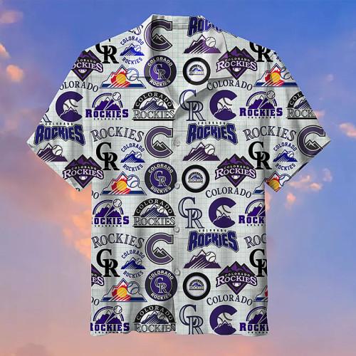 Colorado Rockies Hawaiian Short Sleeve Shirt