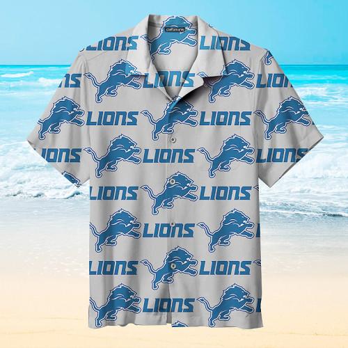The Detroit Lions Print Hawaiian Shirts