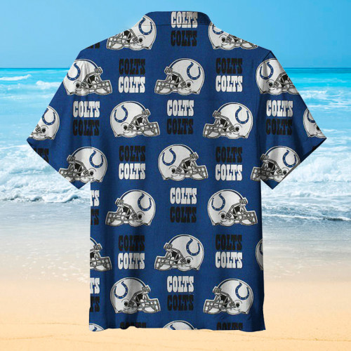 Indianapolis Colts Helmet Hawaiian Shirt