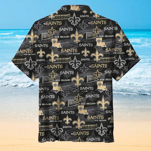 ⚜️New Orleans Saints⚜️Print Unisex Short Sleeve Hawaiian Shirt