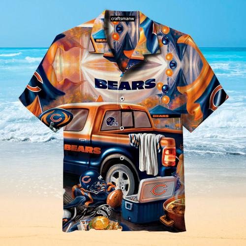 The Chicago Bears Unisex Short Sleeve Hawaiian Shirt