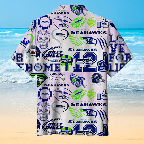 Seattle Seahawks Fashion Print Unisex Hawaiian shirt
