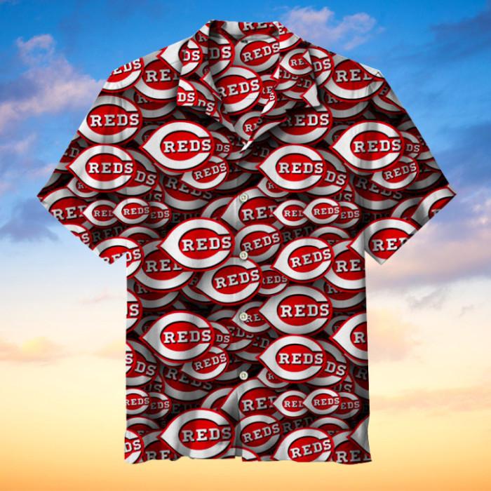Cincinnati Reds Hawaiian Short Sleeve Shirt