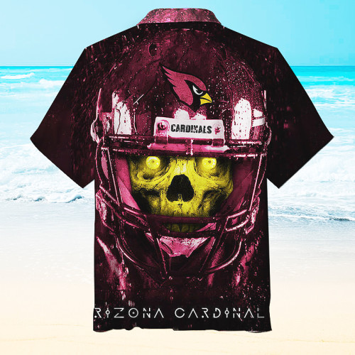 Amazing Arizona Cardinals Print Skull Unisex Hawaiian Shirt
