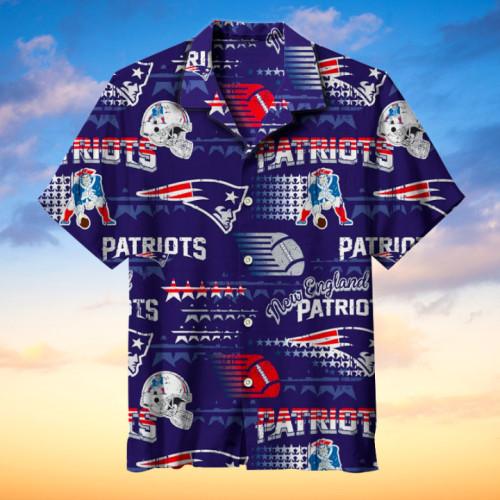 U.S. New England Patriots Hawaiian Short-Sleeved Shir