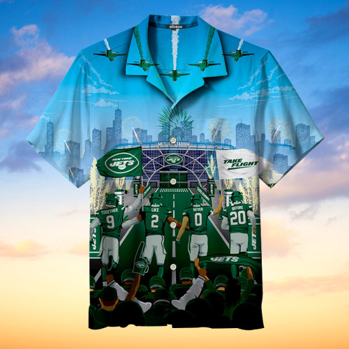 New York Jets Tournament Hawaiian Shirt