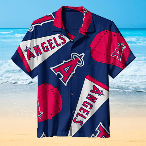 Los Angeles Angels MLB Baseball Stylish Print Unisex Hawaiian Shirt