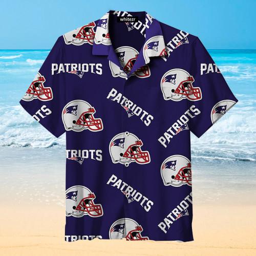New England Patriots Helmet Hawaiian Shirt