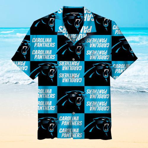 Carolina Panthers Block Print Unisex Hawaiian Shirt