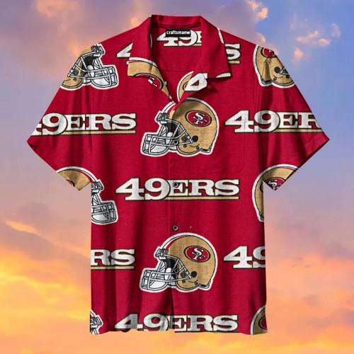 The San Francisco 49ers Red Print Hawaiian Shirt