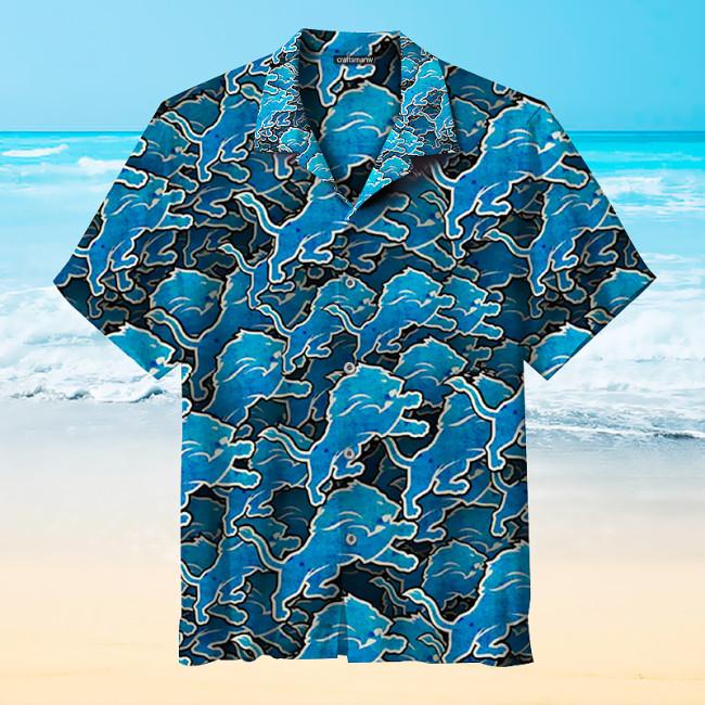 Detroit Lions Print Unisex Hawaiian Shirts