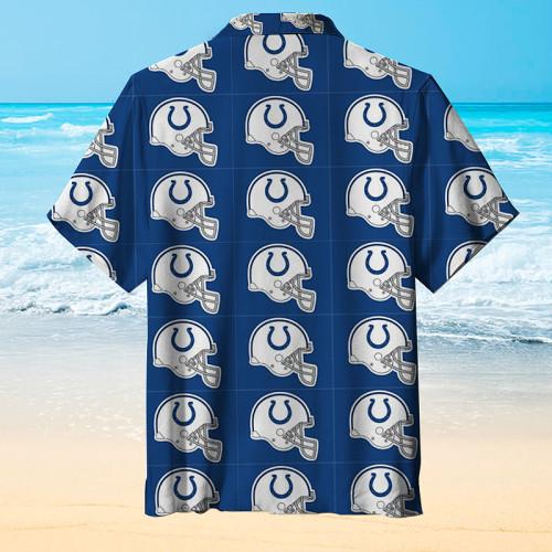 Indianapolis Colts Check Hawaiian Shirt
