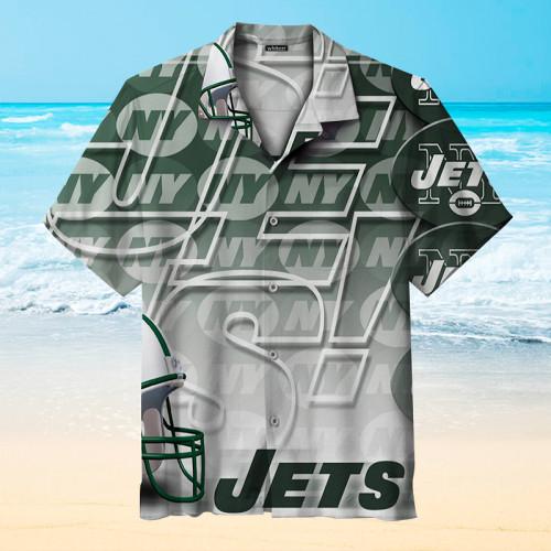 New York Jets Gradient Hawaiian Shirt