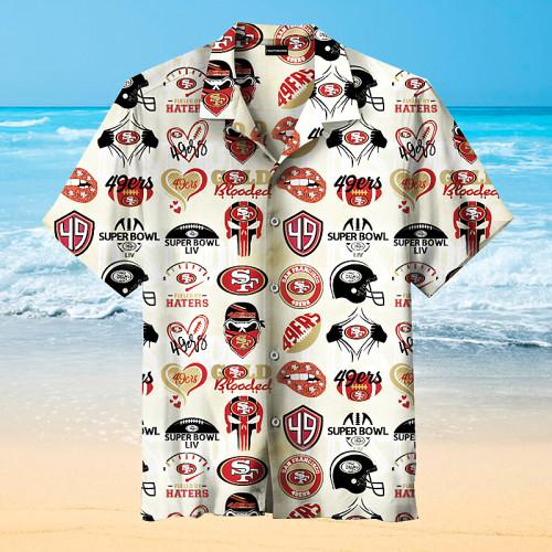 San Francisco 49ers Print Short Sleeve Hawaiian Shirt