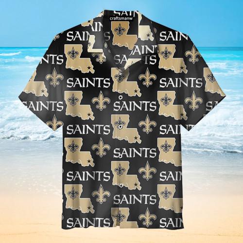 New Orleans Saints Unisex Hawaiian Short Sleeve Shirt