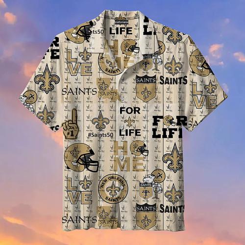 New Orleans Saints Life Unisex Hawaiian Short Sleeve Shirt