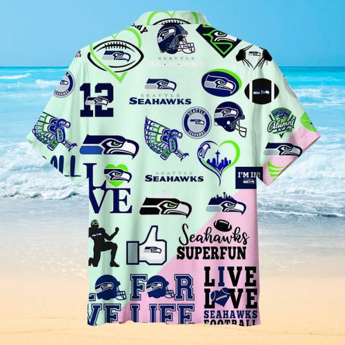 Seattle Seahawks Splicing Unisex Hawaiian Shirt