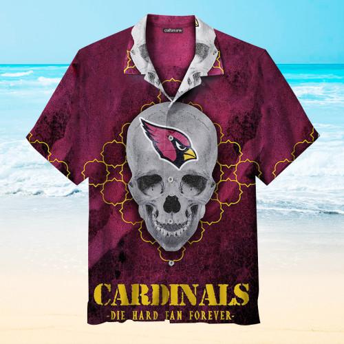 The Arizona Cardinals Print Skull Unisex Hawaiian Shirt