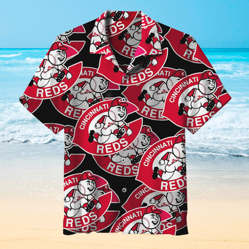 Heart-pleasing Cincinnati Reds Hawaiian short sleeves
