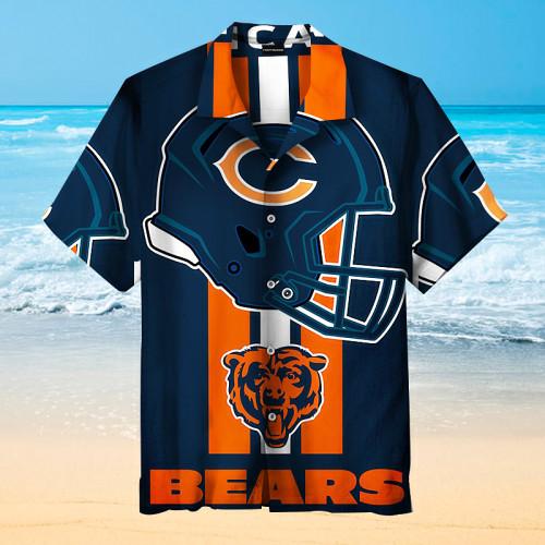 The Chicago Bears Print Rugby Unisex Hawaiian Shirt