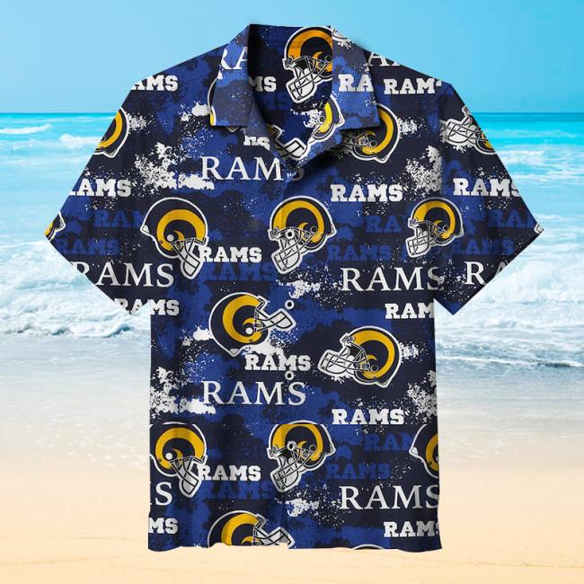Los Angeles Rams Hawaiian Short Sleeve Shirt