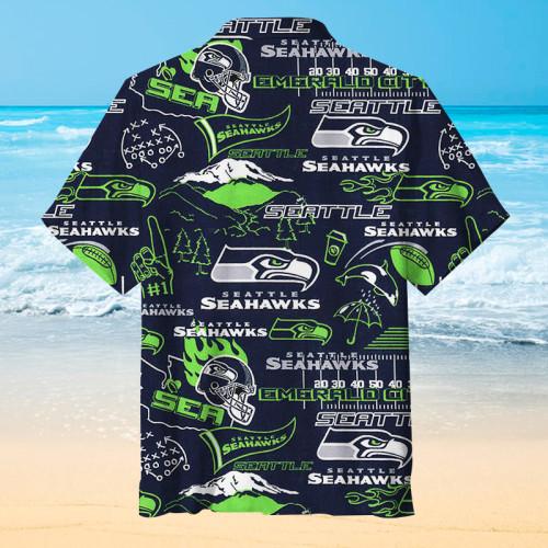 Seattle Seahawks Football Print Unisex Hawaiian Shirt