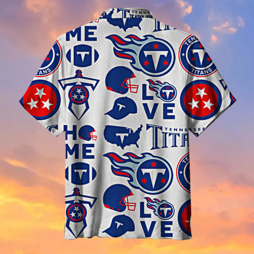 Tennessee Titans Print Hawaiian Shirt