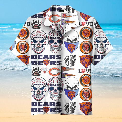 Chicago Bears Cool Sign Print Unisex Hawaiian Shirt
