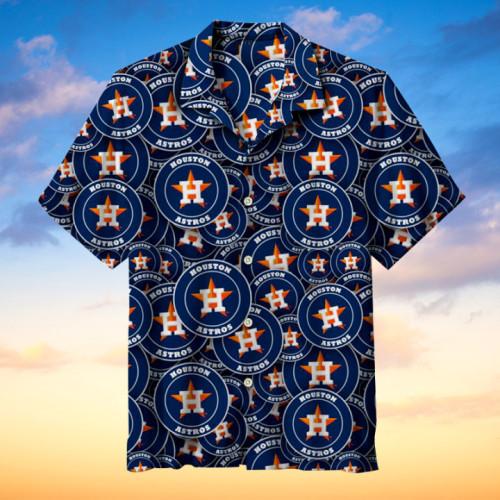 Houston Astros Hawaiian Short Sleeve Shirt