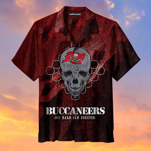 Tampa Bay Buccaneers-Skull Red Hawaiian Shirt