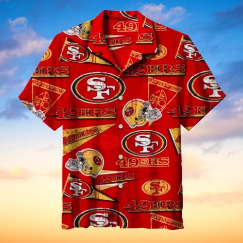 San Francisco 49ers Hawaiian Short Sleeve Shirt