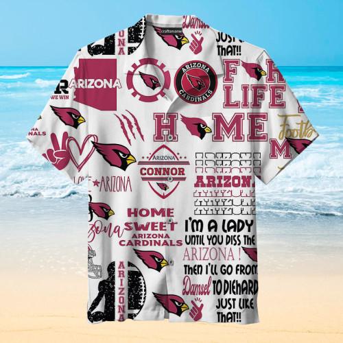 Arizona Cardinals Print Unisex Hawaiian Short Sleeve Shirt