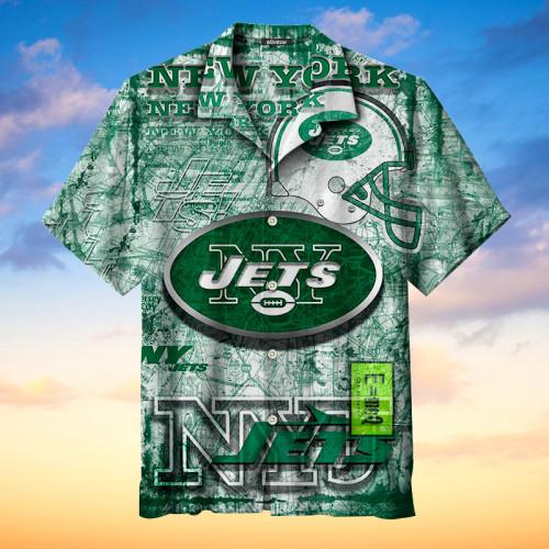 New York Jets Retro Hawaiian Shirt