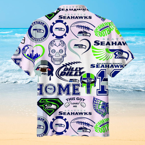 This Guy Love His-Seattle Seahawks Hawaiian Shirt