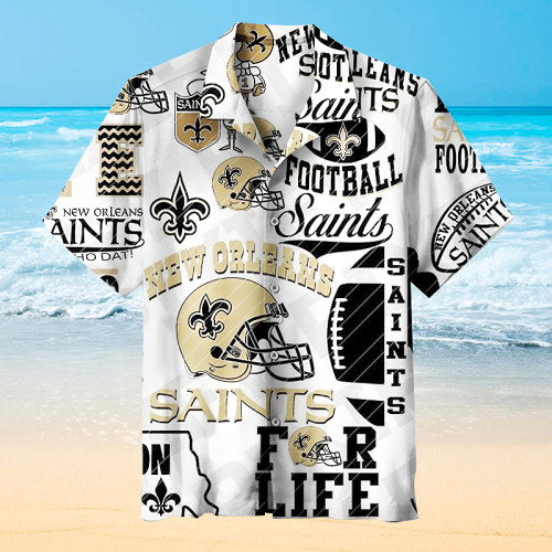 New Orleans Saints Unisex Print Short Sleeve Hawaiian Shirt