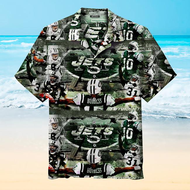 New York Jets Football Player Vintage Hawaiian Shirt