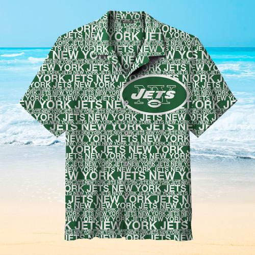 New York Jets Alphabet Print Hawaiian Shirt