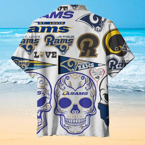 Los Angeles Rams Fashion Print Unisex Hawaiian Shirt