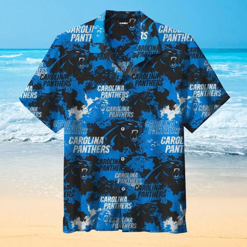 Carolina Panthers NFL Football Retro Print Unisex Hawaiian Shirt