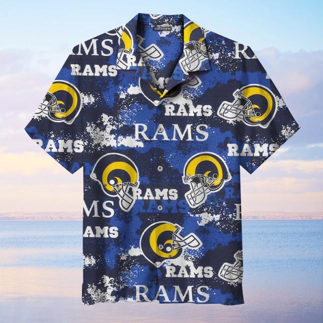 The Los Angeles Rams Print Unisex Short Sleeve Hawaiian Shirt