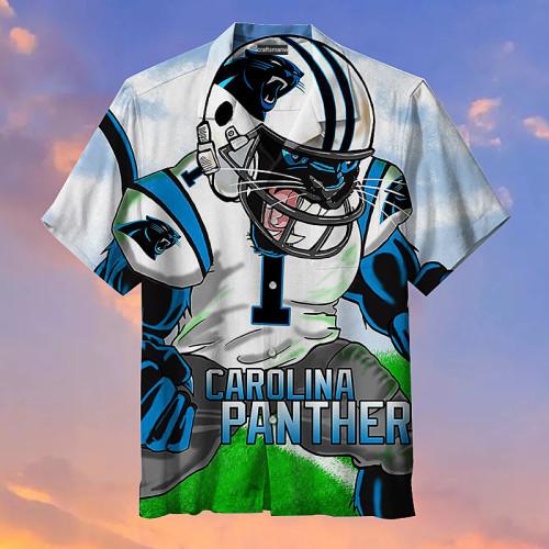 Carolina Panthers Unisex Print Short Sleeve Hawaiian Shirt