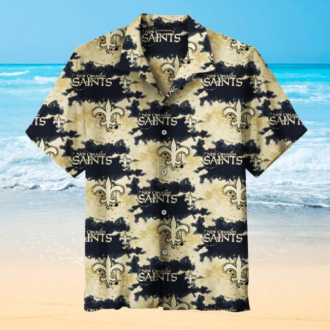 New Orleans Saints Fashion Printing Unisex Hawaiian Shirt