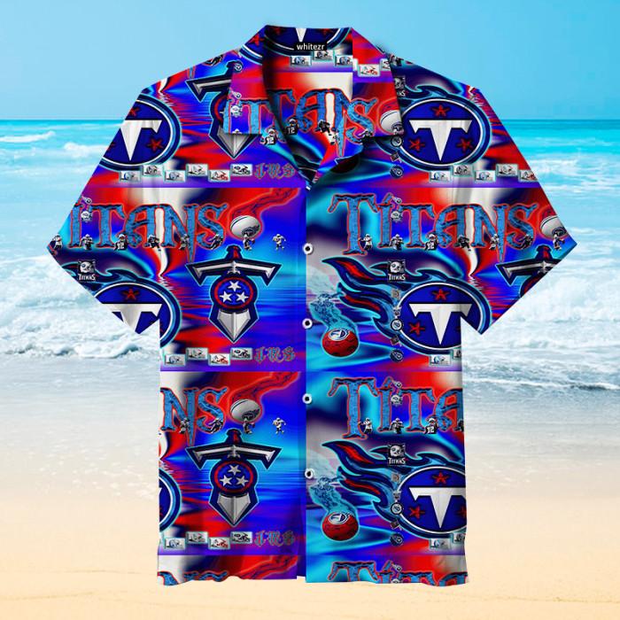 Tennessee Titans Colorful Hawaiian Shirt