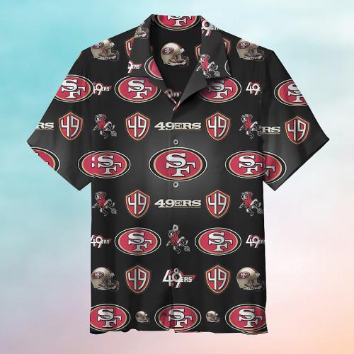 American Football San Francisco 49ers Hawaiian Short Sleeve Shirt